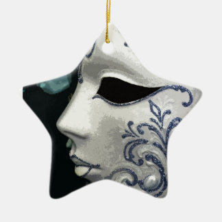 MASQUERADE 2 (blue) Christmas Tree Ornaments