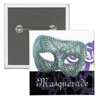Masquerade 2 Inch Square Button