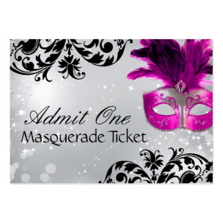 Masquerade Admission Tickets Business Card Template