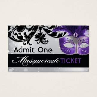 Masquerade Admission Tickets Business Card