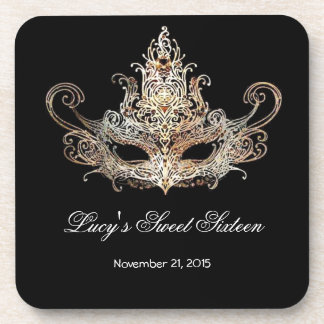 Masquerade Ball Beverage Coaster