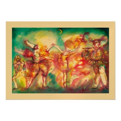 MASQUERADE BALL, gold metallic Custom Invitation