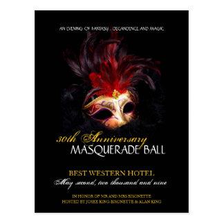 Masquerade Ball Invitation Post Cards