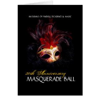 Masquerade Ball Invitations - Note Card