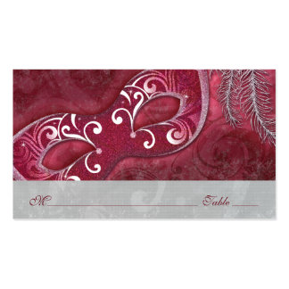 Masquerade Ball Mardi Gras Wedding Place Cards Double-Sided Standard Business Cards (Pack Of 100)