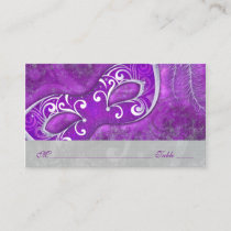 Masquerade Ball Mask Purple Wedding Place Cards