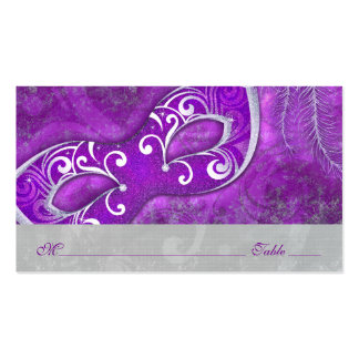 Masquerade Ball Mask PurpleWedding Place Cards Double-Sided Standard Business Cards (Pack Of 100)