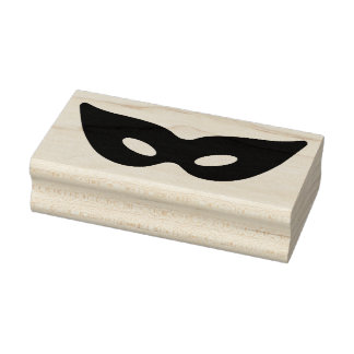 Masquerade Ball Mask Rubber Stamp
