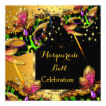 Masquerade Ball Masked Party Gold Celebration Invitation