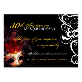 Masquerade Ball - Mini Reply Cards Large Business Card