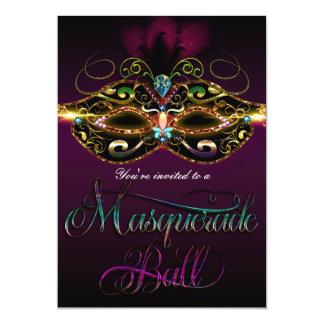 MASQUERADE BALL Mutli Color Fun Party Invitations