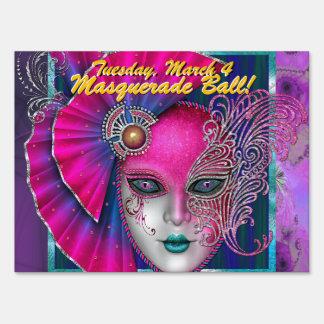 Masquerade Ball! Party Sign