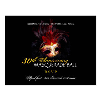 Masquerade Ball - Postcard Reply Cards