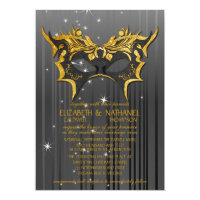 Masquerade Ball Wedding Invitation