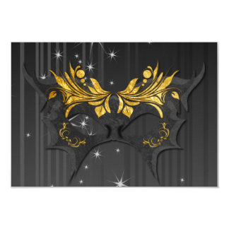 Masquerade Ball Wedding RSVP Card Personalized Announcement