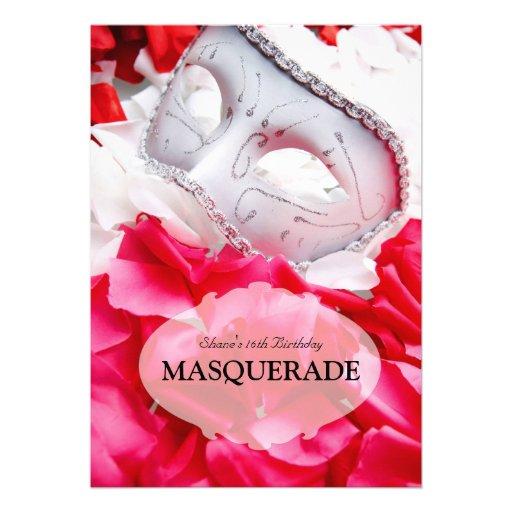 Masquerade Birthday Ball Costume Party Invitation