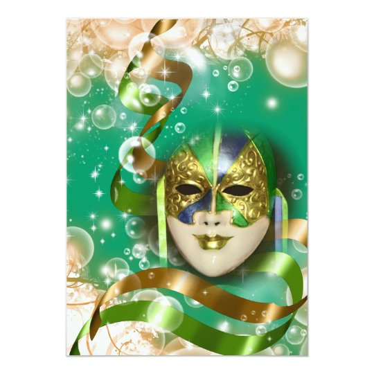 Masquerade birthday costume theme PERSONALIZE Card