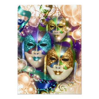 Masquerade birthday girls PERSONALIZE Card