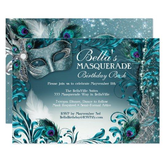 Masquerade Birthday Party Invitations Zazzle Com