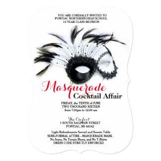 Masquerade Black and Red Invitations