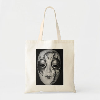 Masquerade  Black and White  Mask Tote Bag