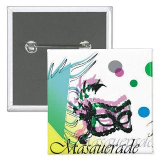 Masquerade Pinback Buttons