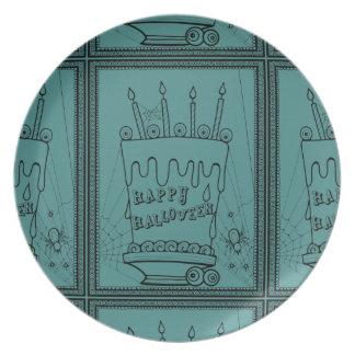 Masquerade Cake Line Art Design Plate