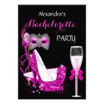 Masquerade Champagne Bachelorette Hot Pink l2 Invites