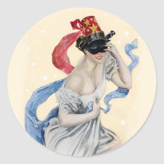Masquerade Classic Round Sticker