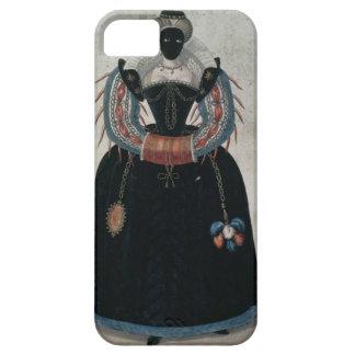 Masquerade costume in the style of Henri III (colo iPhone SE/5/5s Case