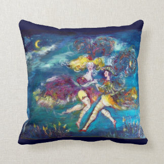 MASQUERADE DANCING AND MUSIC IN THE NIGHT PILLOWS