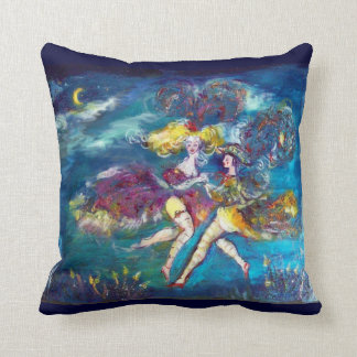MASQUERADE DANCING AND MUSIC IN THE NIGHT THROW PILLOWS