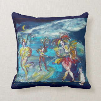 MASQUERADE DANCING AND MUSIC IN THE NIGHT THROW PILLOW