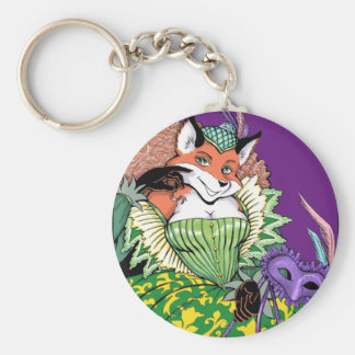 Masquerade Fox Keychain