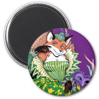 Masquerade Fox Magnet