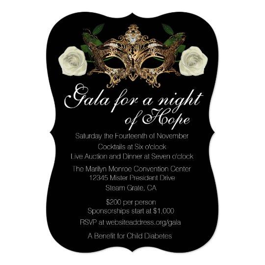 Masquerade fundraising gala invitation zazzle masquerade fundraising gala invitation stopboris Images