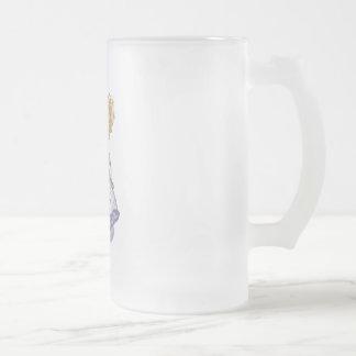 Masquerade Girl 16 Oz Frosted Glass Beer Mug
