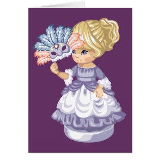 Masquerade Girl Greeting Card