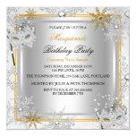 Masquerade Gold Snowflakes Silver Masks Party 2 Card