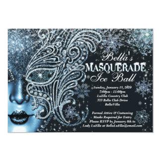 Masquerade Ice Ball Winter Snowflake Invitations