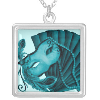 Masquerade in Teal Necklace