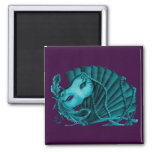 Masquerade in Teal on purple Magnet