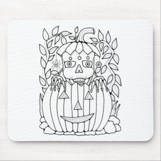Masquerade Jack O Lantern Mouse Pad