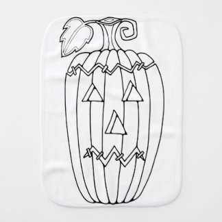 Masquerade Jack O Lantern Two Line Art Design Burp Cloth