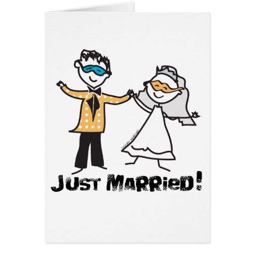 Masquerade Just Married Card