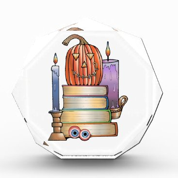 Halloween Themed Masquerade Library Books Acrylic Award