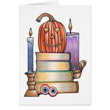 Halloween Themed Masquerade Library Books Card