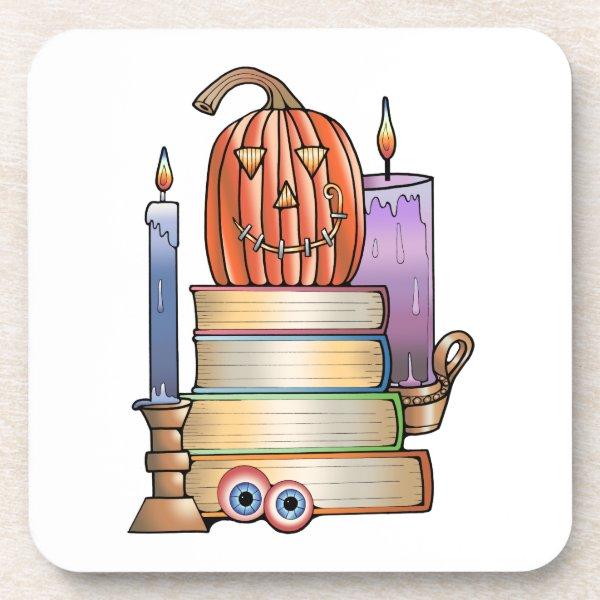 Masquerade Library Books Coaster