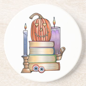 Masquerade Library Books Drink Coaster