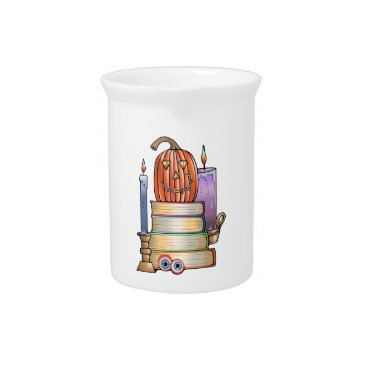Masquerade Library Books Drink Pitcher